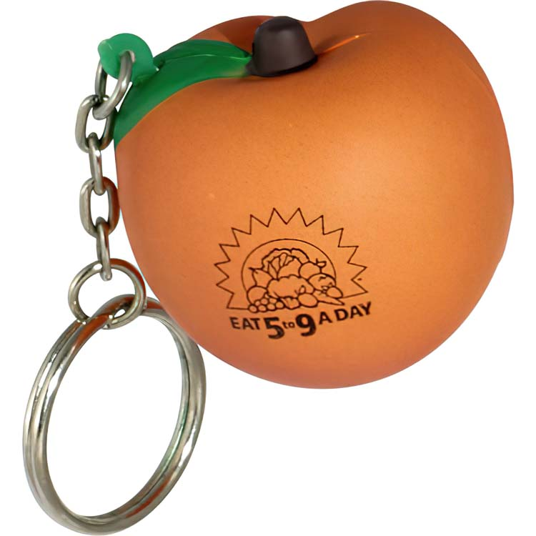 Peach Stress Ball Key Chain
