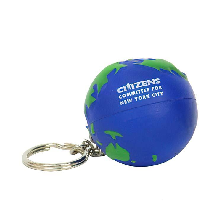 Porte-clés anti-stress terre