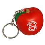 Porte-clés anti-stress pomme