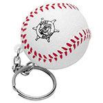Porte-clés anti-stress balle baseball