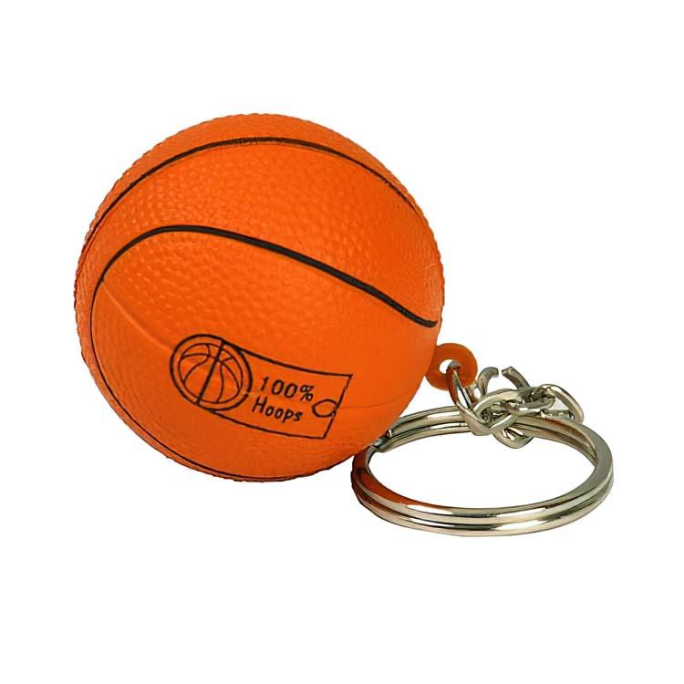 Porte-clés anti-stress ballon basketball