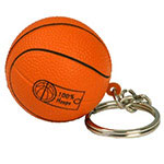 Porte-clés anti-stress ballon basketball