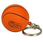 Basketball Stress Ball Key Chain