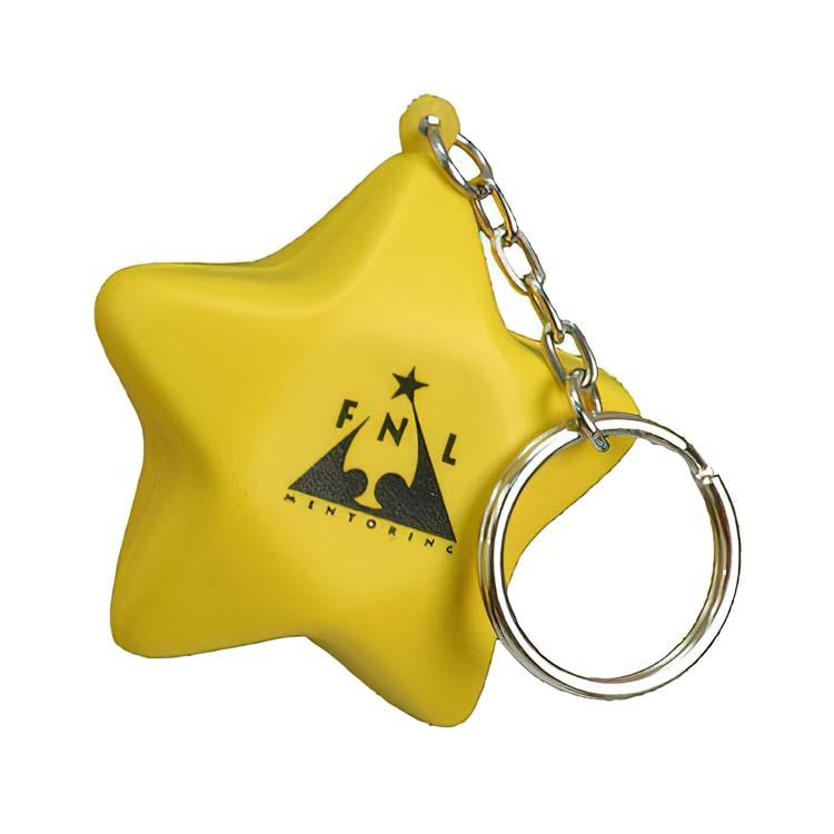 Porte-clés anti-stress étoile