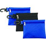 Pochette de nylon opaque bleue ou noire