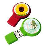 Clé USB ronde de couleur