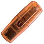 Bâton de mémoire clé USB orange translucide