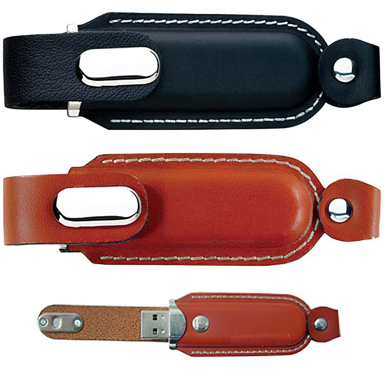 Clefs USB avec étuis en cuir