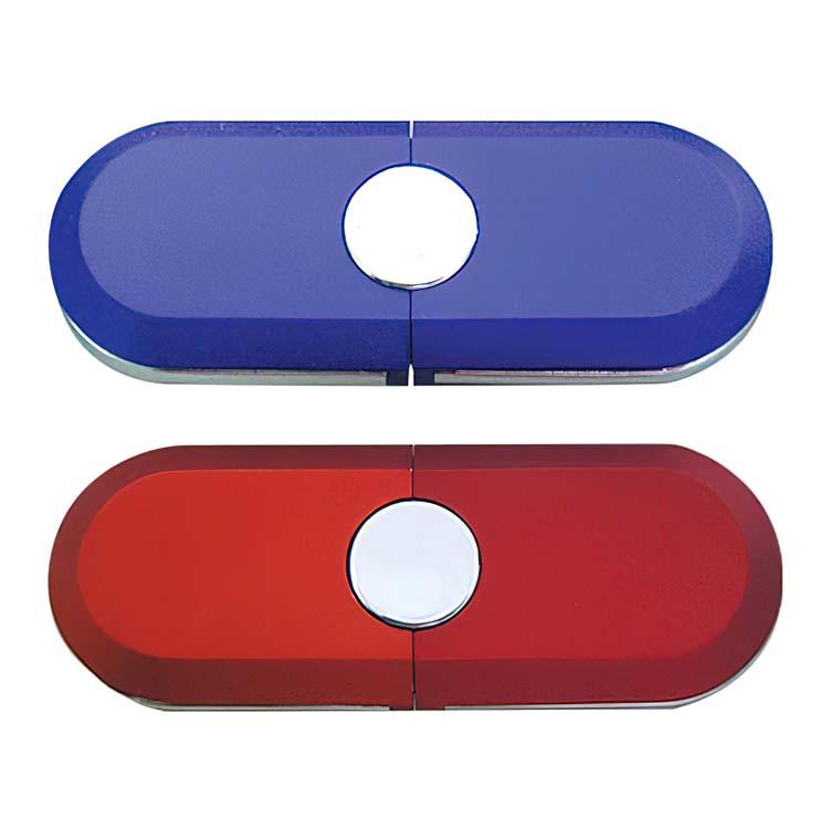 Clé USB caoutchoutée rouge, noire ou bleue