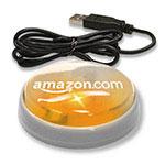 """Bouton lumineux USB """"Smart Button"""" (lentille orange/DEL orange)"""
