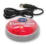 """Bouton lumineux USB """"Smart Button"""" (lentille rouge/DEL rouge)"""