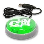 """Bouton lumineux USB """"Smart Button"""" (lentille verte/DEL verte)"""