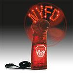 Ventilateur/centre de message rouge