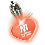 Pendentif lumineux coeur avec DEL rouge