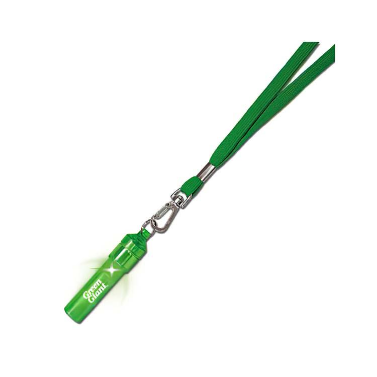 Sifflet lumineux vert sur lanière