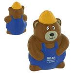 Construction Worker Bear Stress Ball
