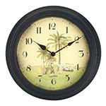 Horloge golf tropical murale