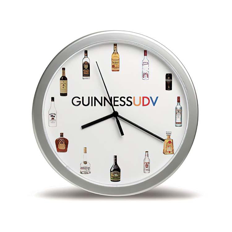 horloge murale 12 39 39 argent articles promotionnels et objets publicitaires. Black Bedroom Furniture Sets. Home Design Ideas