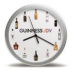 Horloge murale 12'' argent