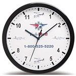Horloge murale 12'' noire