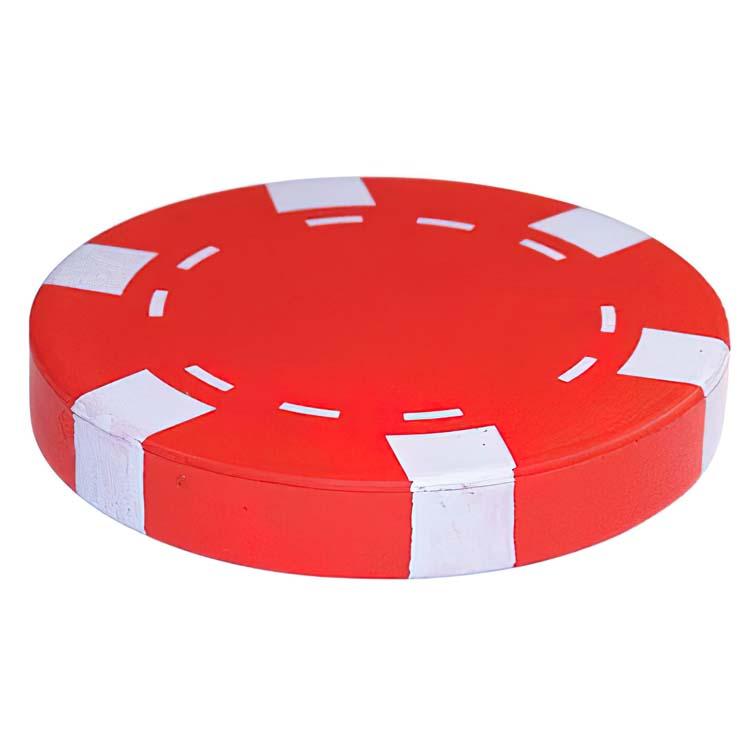 Jeton de poker anti-stress rouge