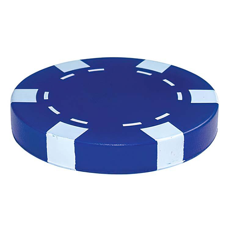 Jeton de poker anti-stress bleu