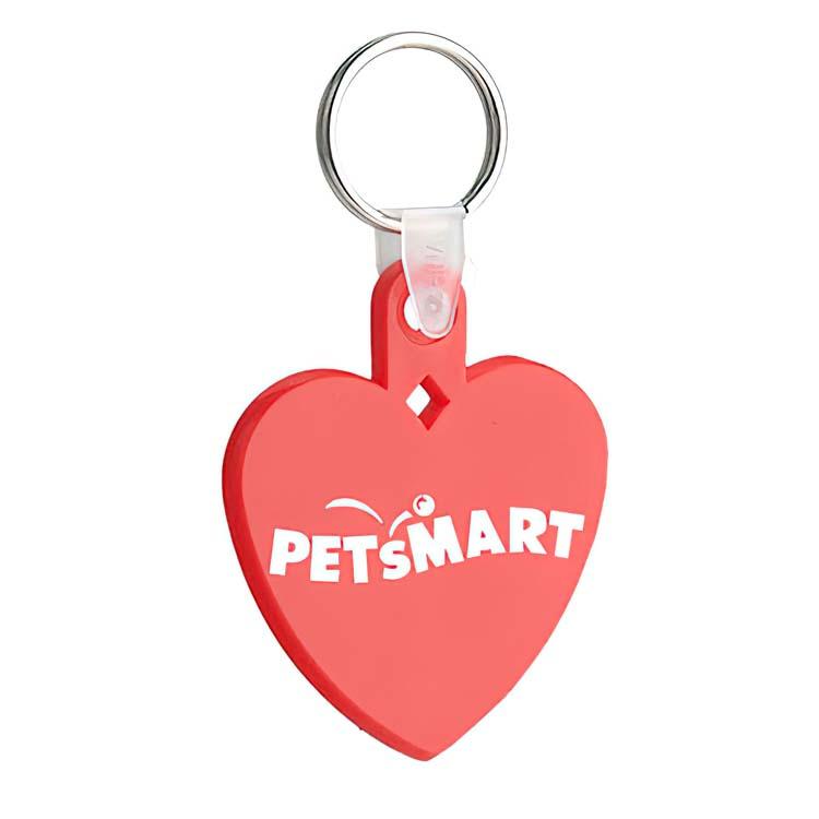Porte-clés résistant forme de coeur rouge