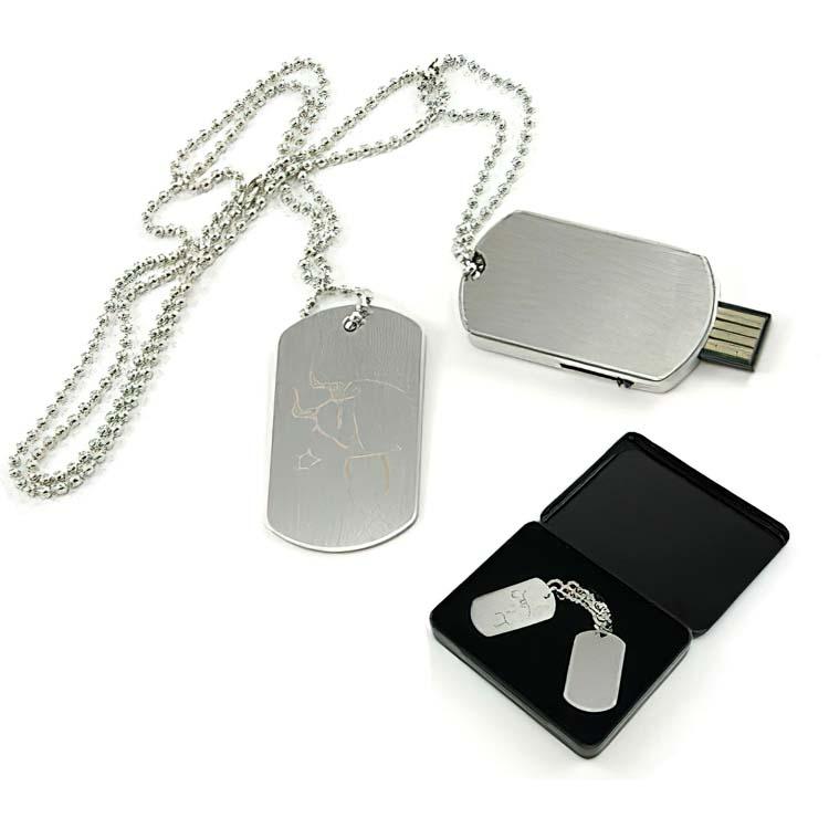 """Clé USB style plaque d'identification """"Dog Tag"""""""