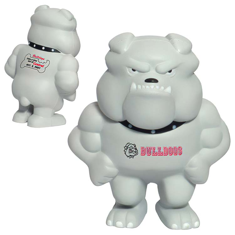Bulldog Mascot Stress Ball