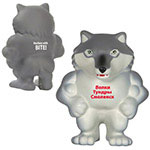 Mascotte loup anti-stress