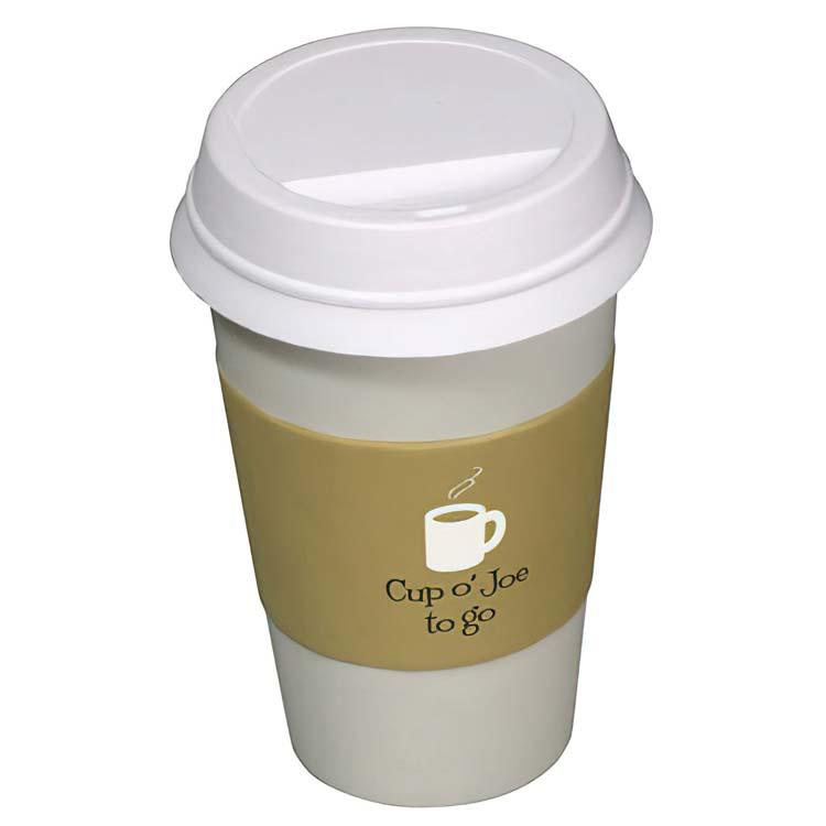 Tasse de café pour emporter balle anti-stress