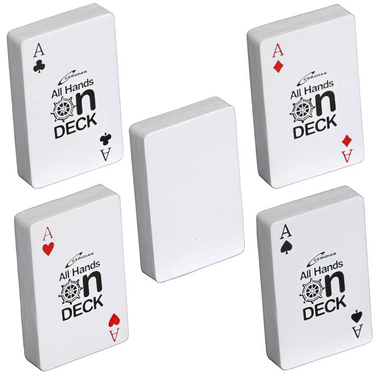Jeu de cartes balle anti-stress