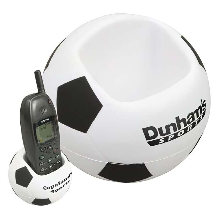 Support pour cellulaire ballon de soccer balle anti-stress