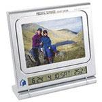 Horloge cadre-photo avec tableau effaçable à sec