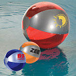 Ballon de plage ton lustré