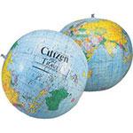 Ballon de plage globe terrestre