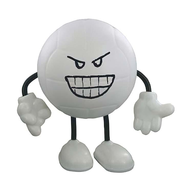 Figurine ballon de volleyball anti-stress