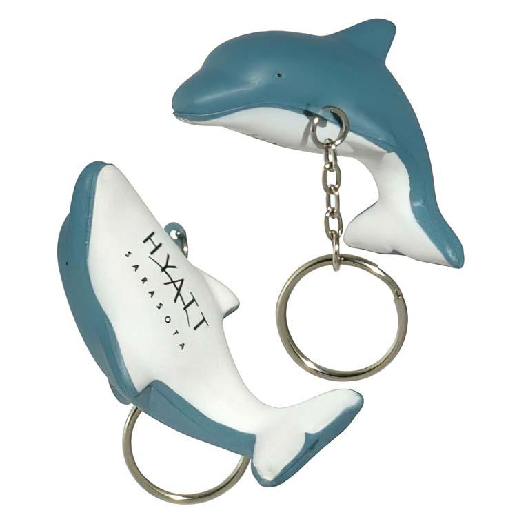 Dauphin porte-clés balle anti-stress