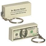 Billet de 100$ porte-clés balle anti-stress