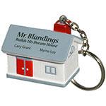 Maison porte-clés balle anti-stress