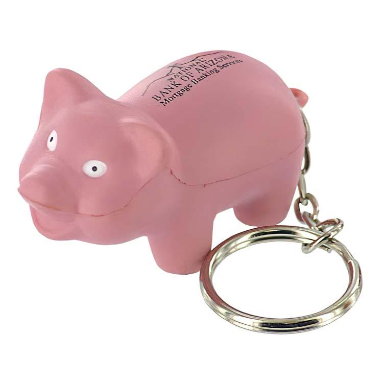 Pig Key Chain Stress Ball