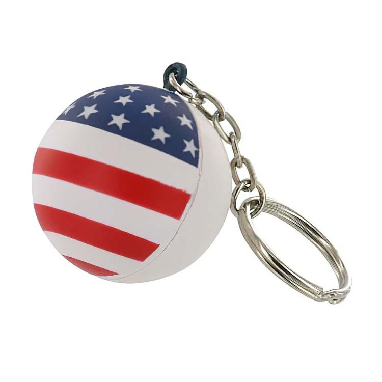 Patriotic Ball Key Chain Stress Ball