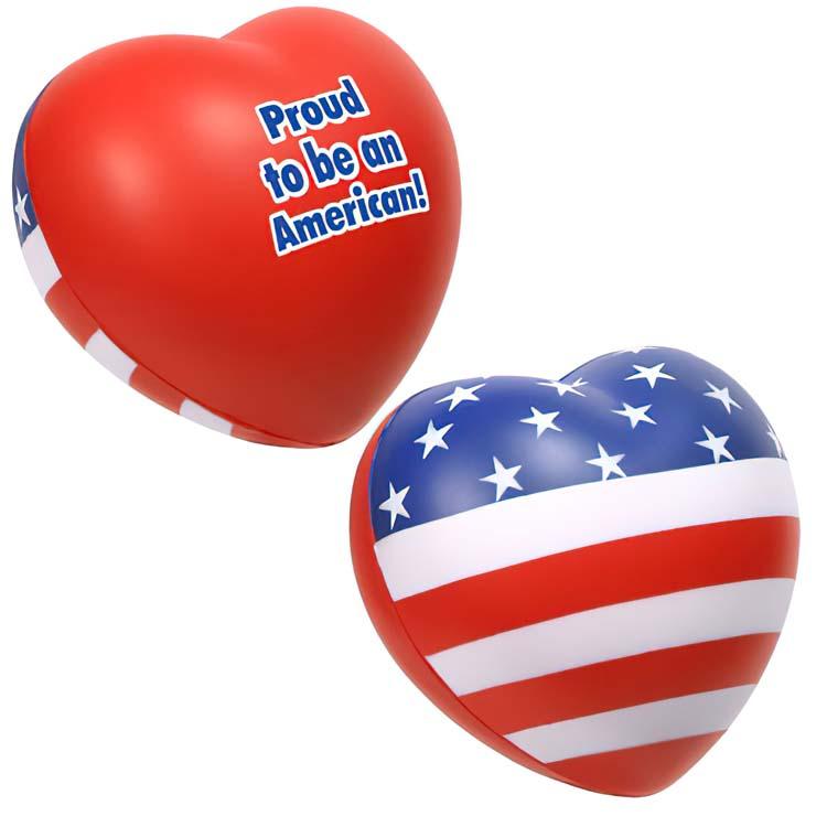 Patriotic Heart Stress Ball