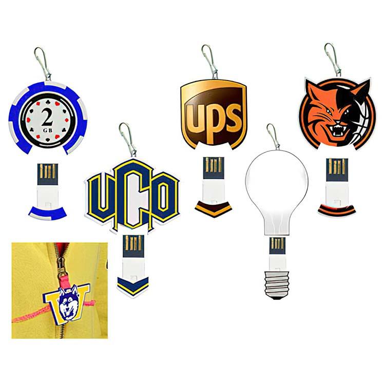 Bâton de mémoire USB sur mesure pour fermeture éclair