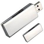 Clé USB rétractable en acier inoxydable