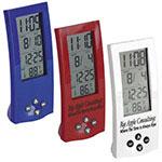 Horloge élancée avec affichage de la température