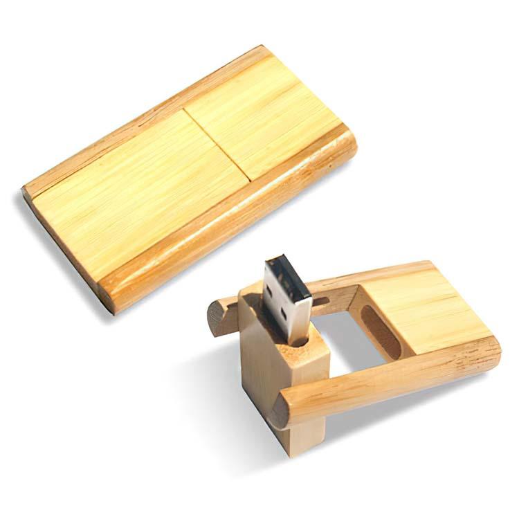 Clé USB pivotante en bambou