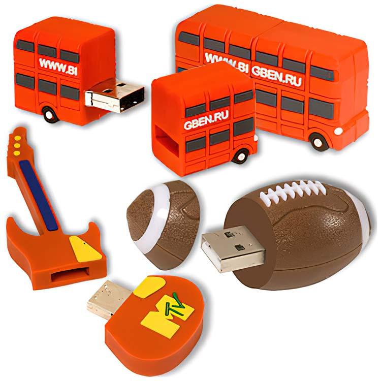 Clé USB personnalisée 3-D Flexible