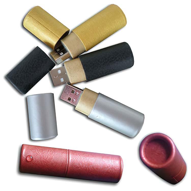 Bâton USB en papier cylindrique