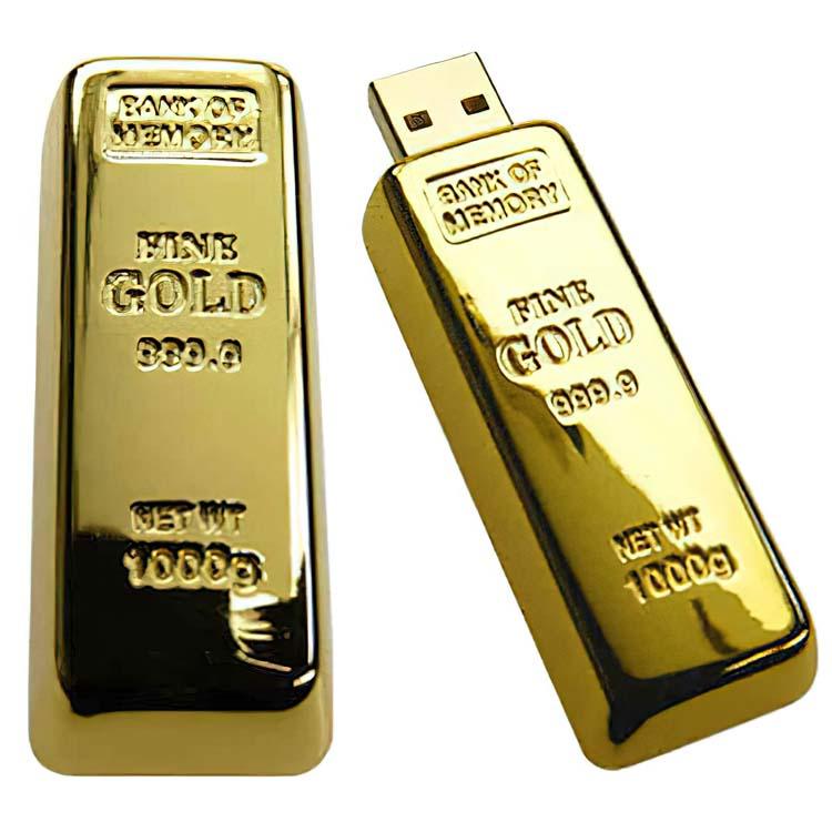 Clé USB en forme de lingo d'or